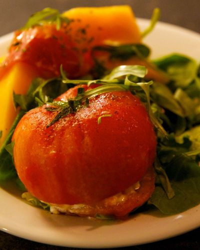 CHM Poached Tomatoes With Goat Cheese 2