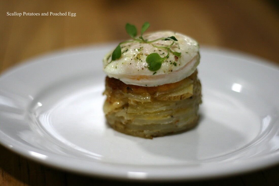 Scallop Potatoes With Poached Egg 11.28.2014